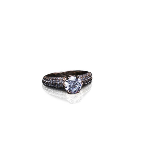 A Diamond Ring After E-commerce Photo Editing Services