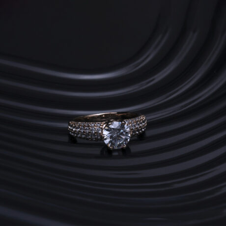 A Diamond Ring Before E-commerce Photo Editing Services