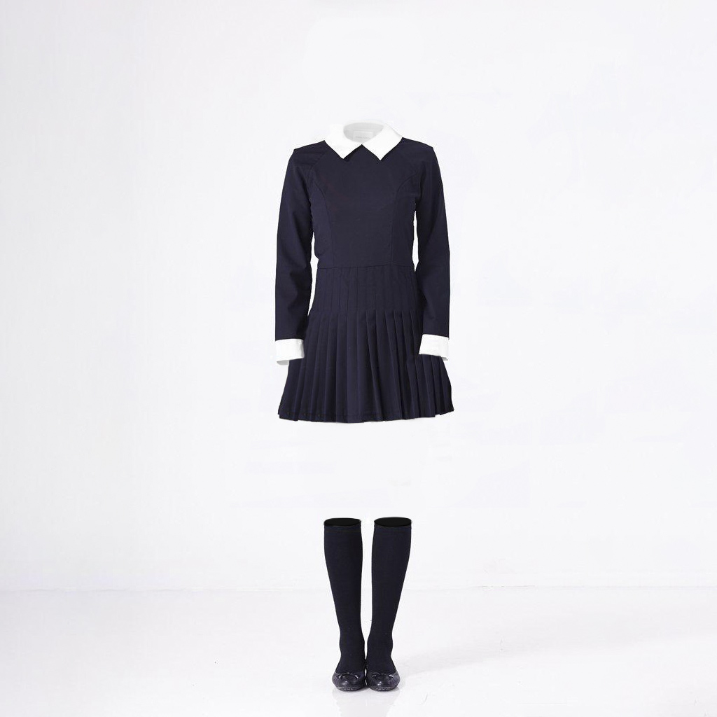 A Female Dress and Socks After Ghost Mannequin Service