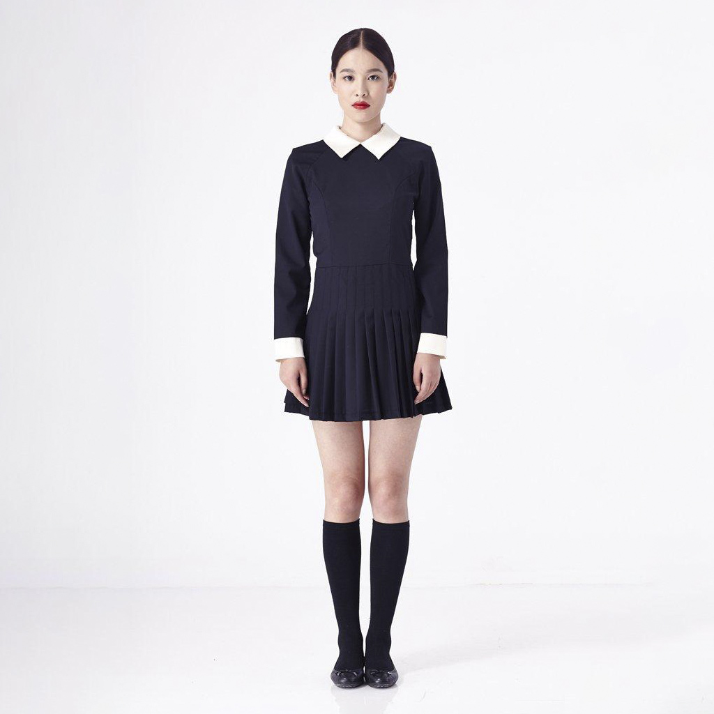 A Female Dress and Socks Before Ghost Mannequin Service