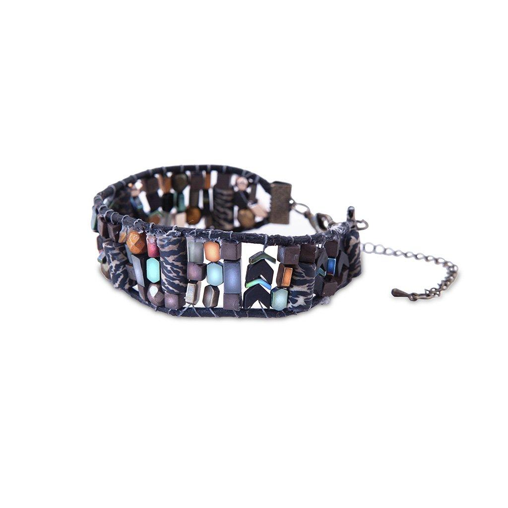 A Multi Color Stone Bracelet After E-commerce Photo Editing Services