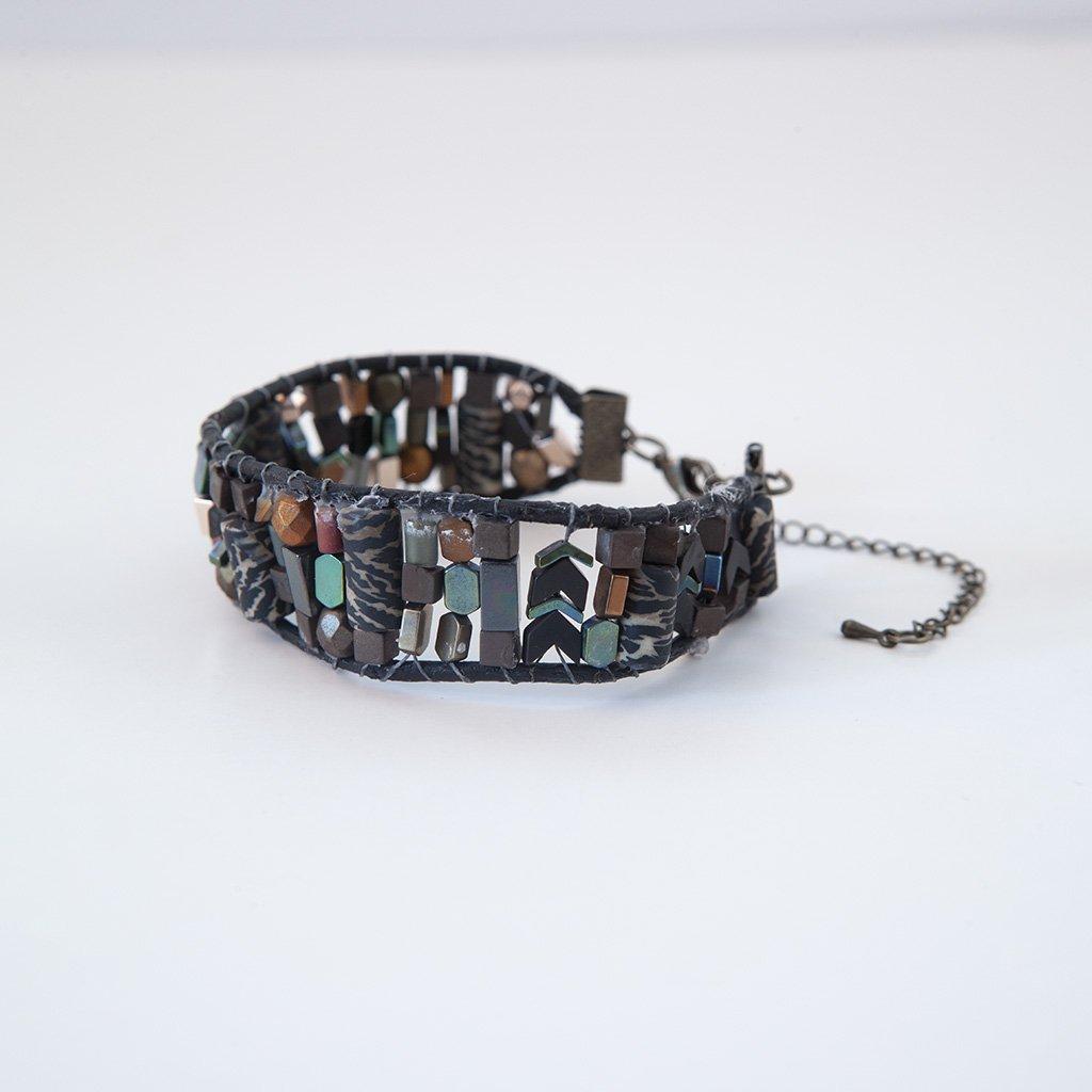 A Multi Color Stone Bracelet Before E-commerce Photo Editing Services