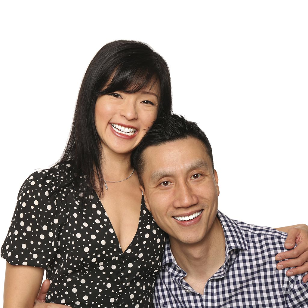 A Beautiful Couple Is Smiling After Background Removal Services