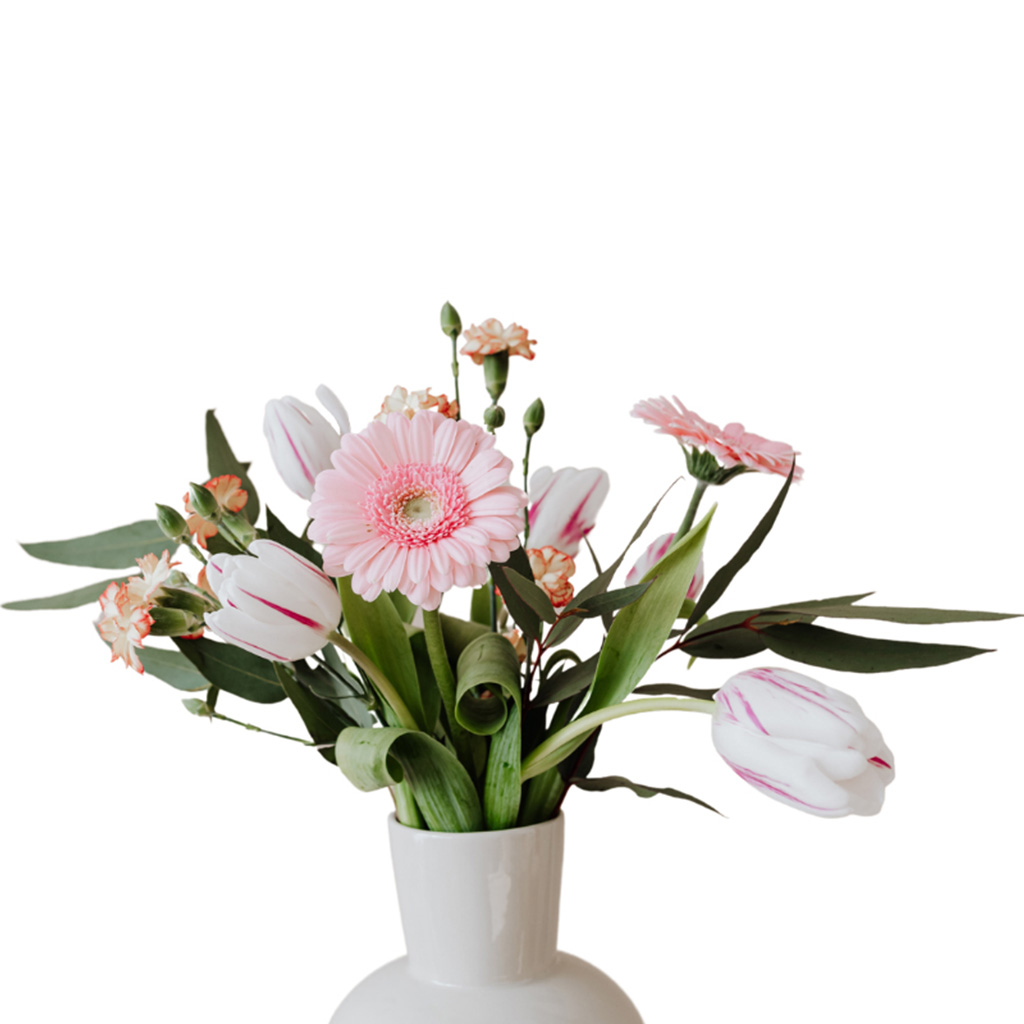 A Bunch of Flowers in a Vase After Background Removal Services